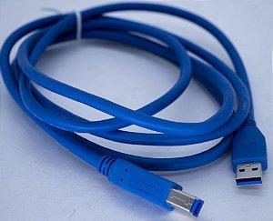 Cabo USB 3.0 Para Impressora 3mt  US3.0-AB-3M