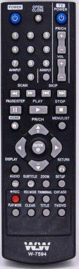 Kit 10un Controle remoto para DVD LG C/GRAVADOR wlw-7594