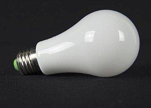 LAMPADA BULBO LED Vidro 360°IP57 Prova d`agua 9w Branco Quente