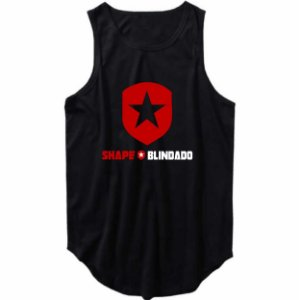 Regata Masculina Longline Escudo Shape Blindado