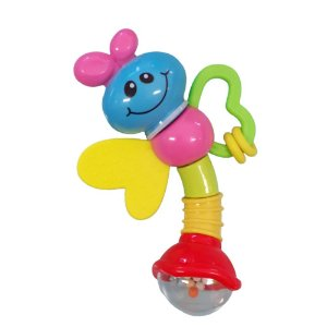 Chocalho e Mordedor Brinquedo de Bebe Borboleta +3 meses Diverte o Bebe