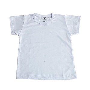 Camiseta Infantil Manga Curta 100% Algodão Branca Lisa 4 a 8 Anos