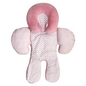 Apoio De Corpo Reversível Buna Baby Rosa Chevron