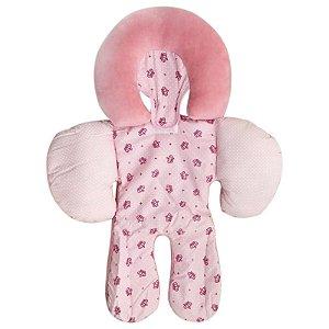 Apoio De Corpo Reversível Buna Baby Coroa Rosa