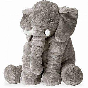 Bichos de pelúcia WU Para Bebes Elefante Cinza