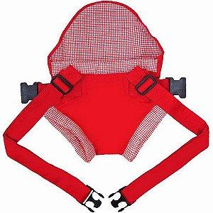 Canguru Click Bebê Passeio Vermelho Xadrez
