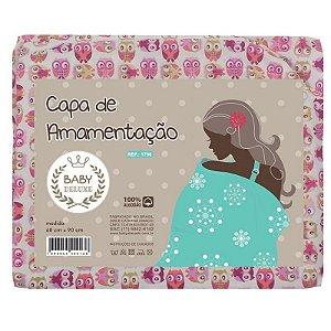 Capa De Amamentação Baby Deluxe Coruja Pink