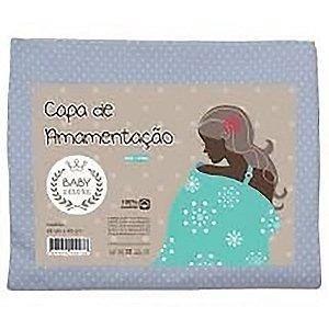 Capa De Amamentação Baby Deluxe Poa Azul