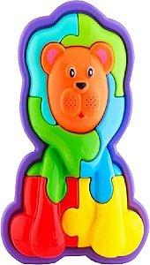 Brinquedo Educativo Infantil Calesita Animal Puzzle Leão