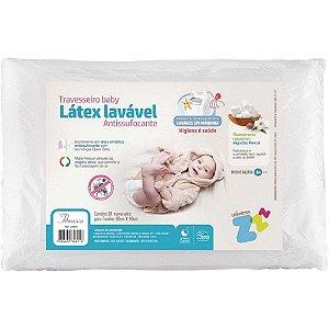 Travesseiro Látex Lavável Baby Antissufocante  Fibrasca Branco