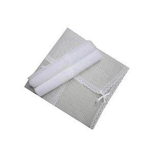 Saquinho Filo Maternidade kit 3 Peças Branco