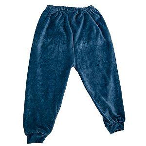 Calça Em Plush Baby Deluxe Azul Sem Pé Masculino