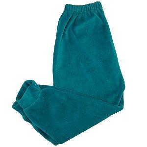 Calça Em Plush Baby Deluxe Azul Tiffany Sem Pé Masculino