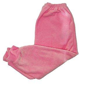 Calça Em Plush Baby Deluxe Rosa Bebe Sem Pé Feminino