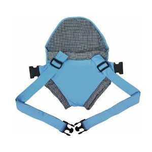 Canguru Click Bebê Passeio Azul Claro Xadrez