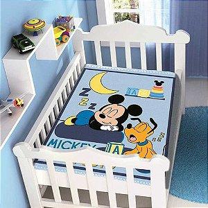 Cobertor infantil Jolitex Raschel Mickey Sonhando Azul