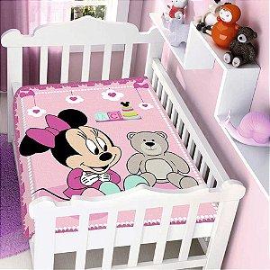 Cobertor infantil Jolitex Raschel Minnie Surpresa Rosa