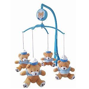 Mobile Musical Giratório Kitstar Urso Berço Zoo Ursinho Marinheiro