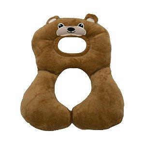 Protetor Pescoço Travesseiro Anatomico Urso Bege