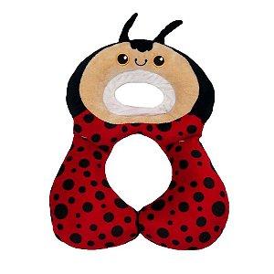 Protetor Pescoço Travesseiro Anatomico Joaninha Vermelha