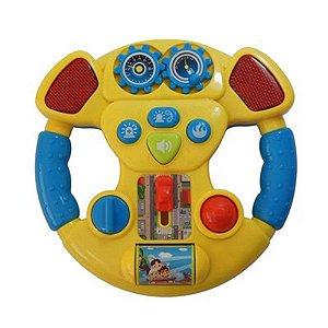 Brinquedo Educativo Coloria Volante Musical Amarelo