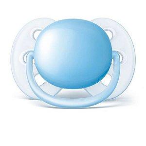 Chupeta Avent Ultra Soft Unitaria 6 a 18 Meses Azul