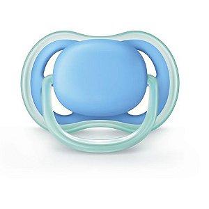 Chupeta Avent Ultra Air Unitaria 6 a 18 Meses Azul Lisa