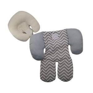 Capa Protetora Para Bebe Conforto Carrinho Cinza Chevron Poa