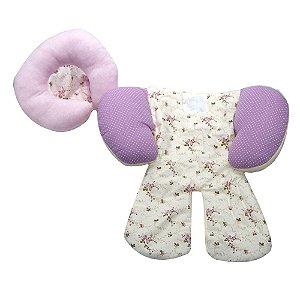 Capa Protetora Para Bebe Conforto Carrinho Rosa Florido