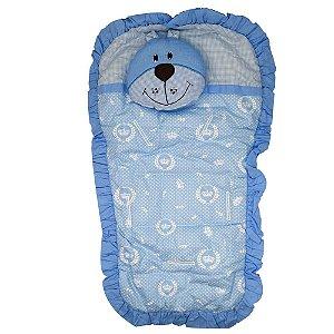 Capa Carrinho Bebe Bruna Baby Urso Azul Realeza