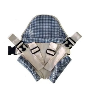 Canguru carrega Bebe Click Bebê Passeio Bege Xadrez