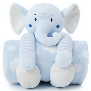 Manta Bebe Naninha Loani Elefante Azul
