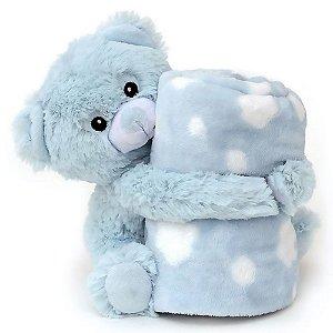 Manta Bebe Naninha Loani Urso Azul
