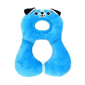 Protetor Pescoço Travesseiro Anatomico Cachorro Azul