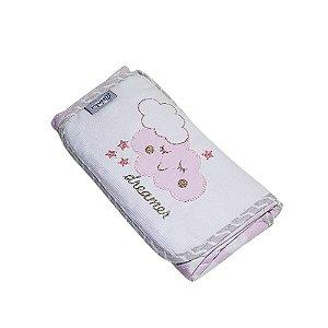 Trocador Portatil Bebe de Bolsa Impermeavel Tecido Nuvem Rosa