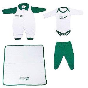 Kit Bebe Saída Maternidade Time Palmeiras 4 Peças Unissex