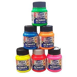 Tinta Para Tecido Tie Dye kit com 6 Cores Fluorescente