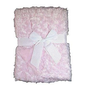 Manta Bebe Cobertor Microfibra Dupla Face 75X100cm Rosa