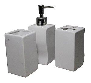 Kit para Banheiro em Cerâmica C/ 3 peças