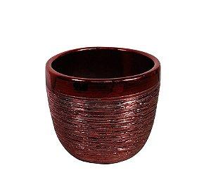 Vaso de Cerâmica Cachepot Vermelho