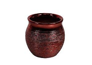 Vaso de Cerâmica Candie Vermelho