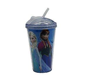 Copo de Plástico c/ Canudo Frozen