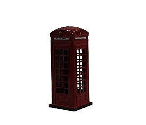 Cofre Miniatura Cabine Telefônica Britânica 15cm