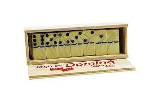 Jogo de Dominó Caixa de Madeira