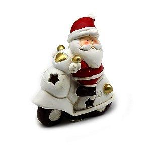 Enfeite Resina Papai Noel na Moto