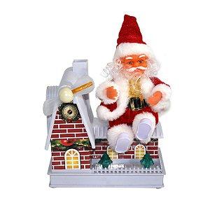 Papai Noel Musical Casinha