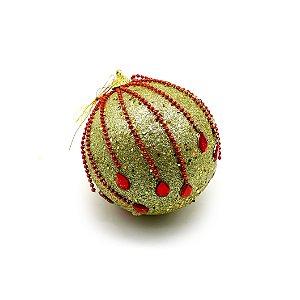 Bola Decorada Glitter 10cm