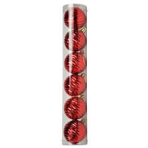 Bola Ondulada Vermelha 6cm