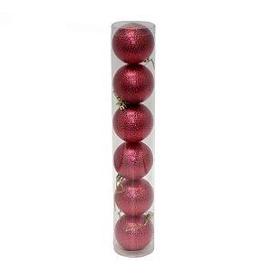 Bola Texturada Vermelha 6cm
