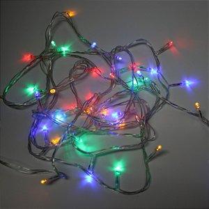 Pisca Pisca 100 Lâmpadas Coloridas Fio Transparente
